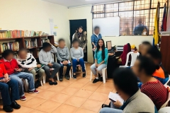 Creative writing workshop in the Provisional Detention Centre, Quito – ECU